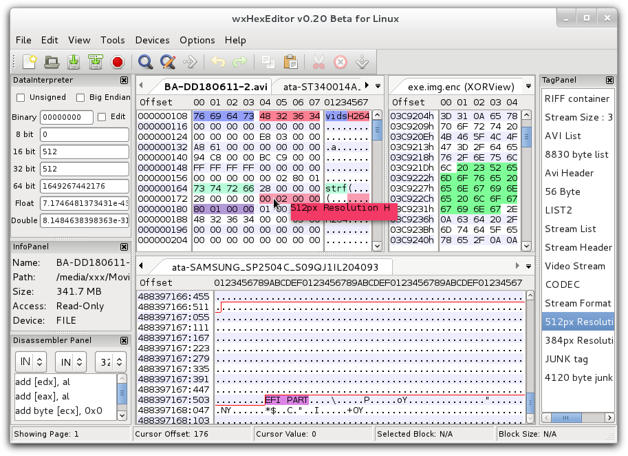 OPEN BLESS HEX EDITOR (HEXADECIMAL EDITOR) GRAPHICALLY